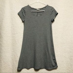 OLIVIA RAE Grey & Black Striped Dress